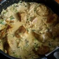 Filet mignon de porc sauce morilles