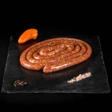 Saucisse au piment d'Espelette - Viandes du Sud Toulousain